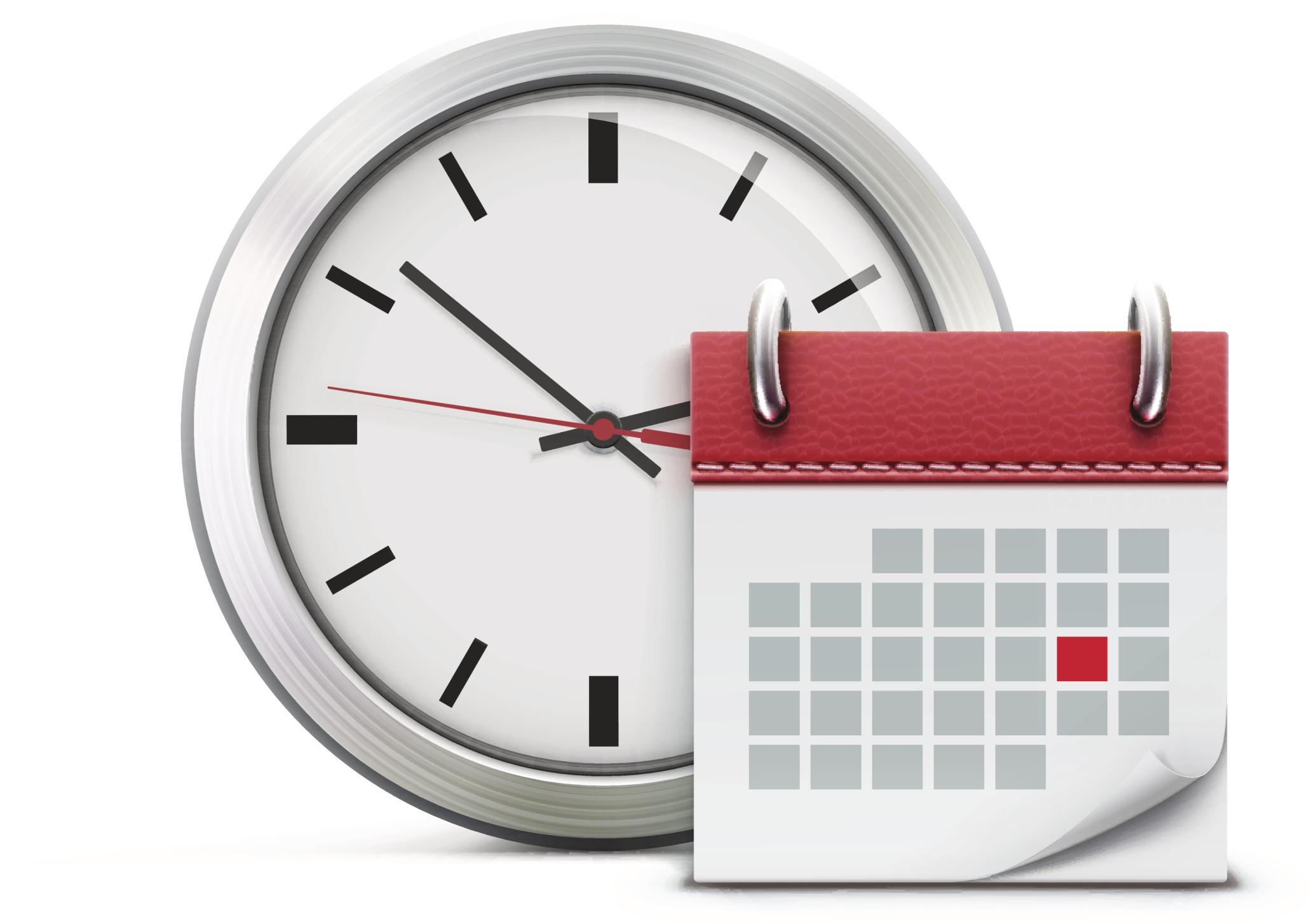 clock schedule calendar