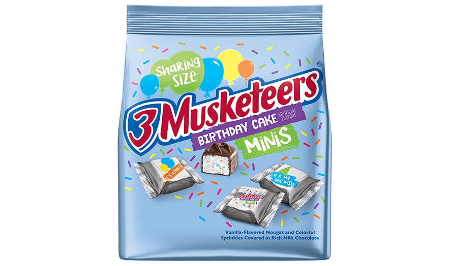 3 musketeers birthday cake minis