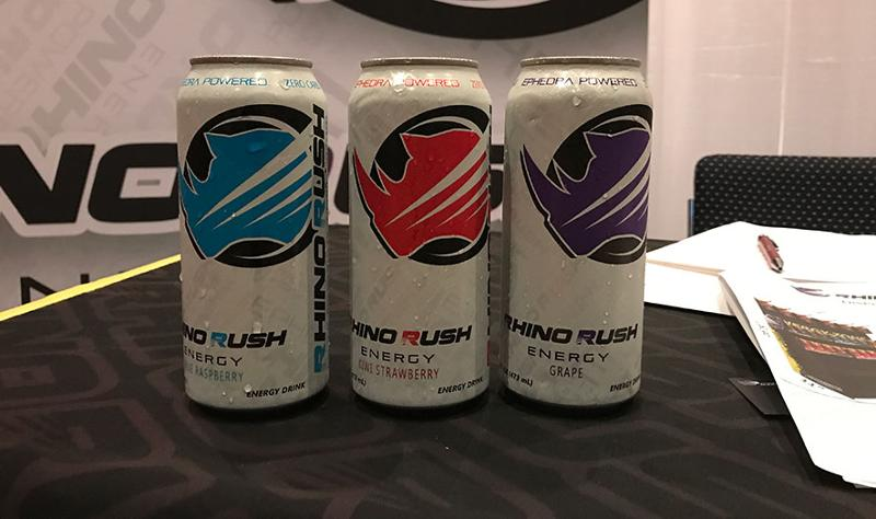 mclane sun sand and sales trade show rhino rush energy drinks