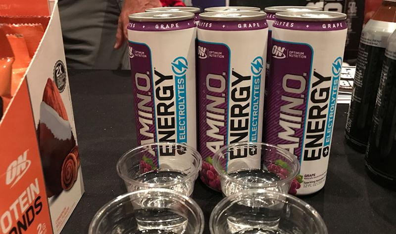 mclane sun sand and sales trade show amino energy drinks