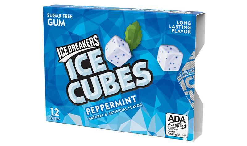 ice breakers ice cubs blister pack peppermint
