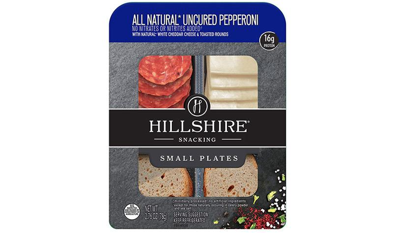 tyson foods hillshire snacking small plates pepperoni white cheddar cheese toasted rounds