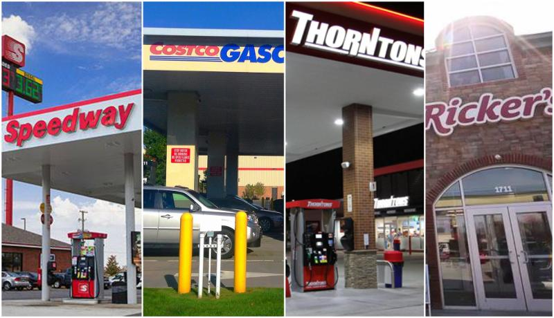 speedway cotsco thorntons rickers