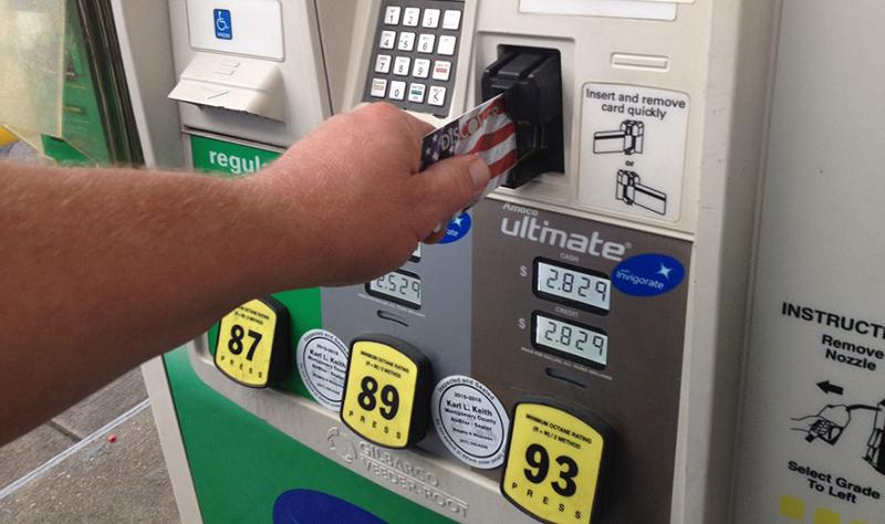 Gas pump credit card