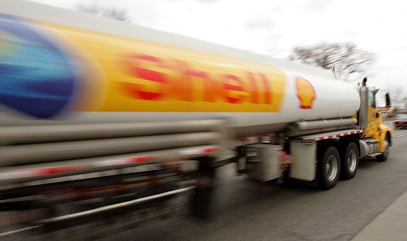 Shell fuel truck