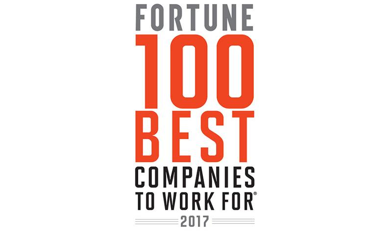 Fortune's 2017 ranking of the 100 Best Companies to Work For
