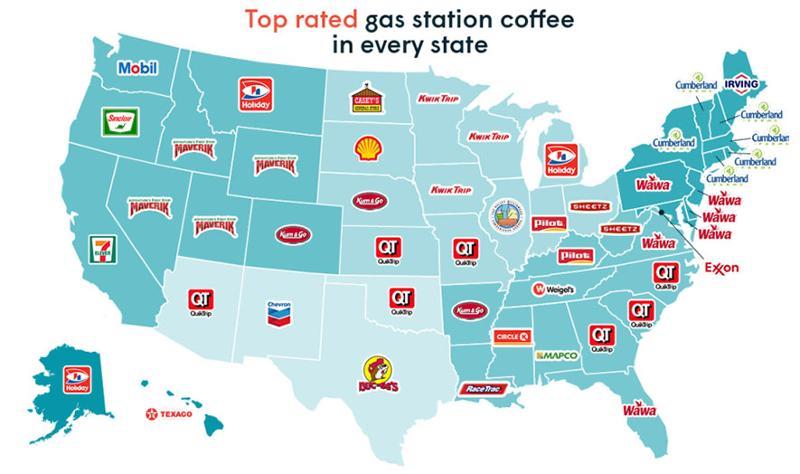 gas buddy national coffee day map 2018