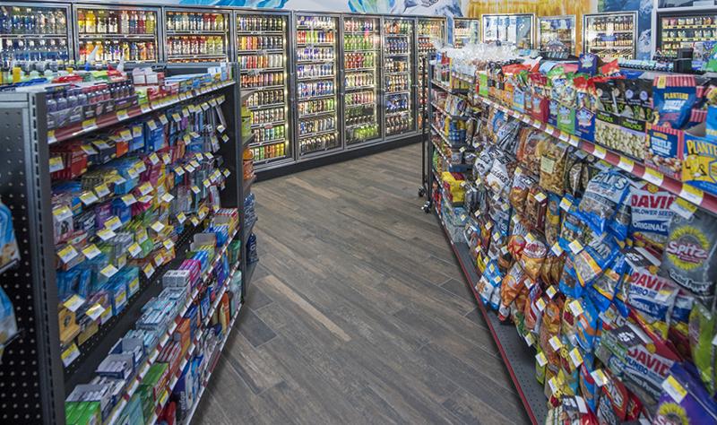 Maverik convenience store aisle
