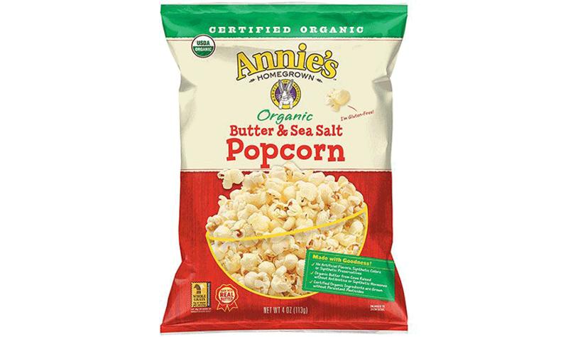 Annie's Organic Butter & Sea Salt and Organic White Cheddar Popcorn