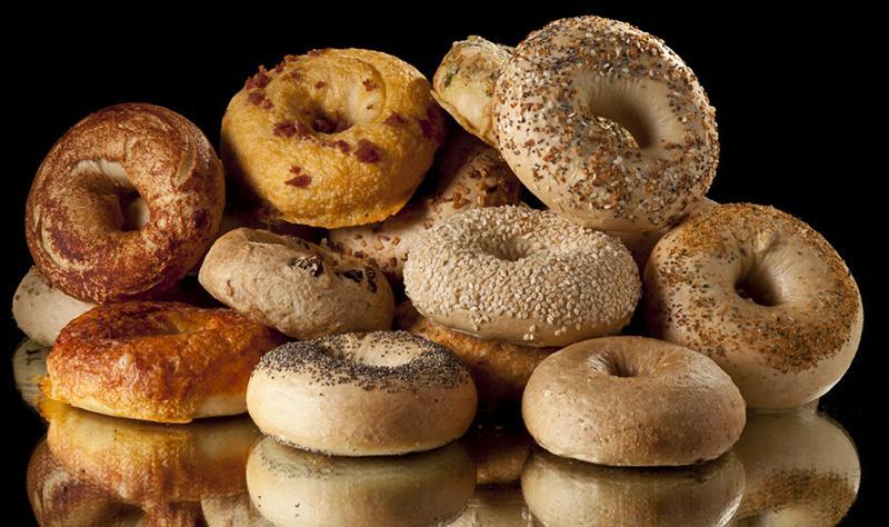 Variety of bagels