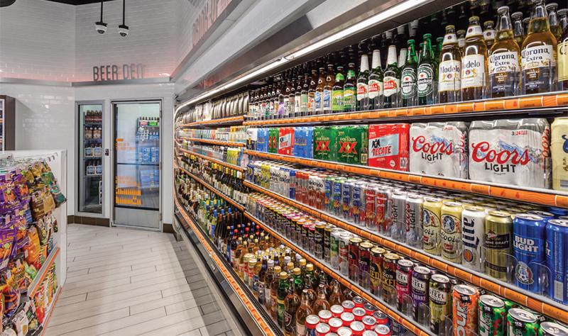Loop neighborhood convenience store beer