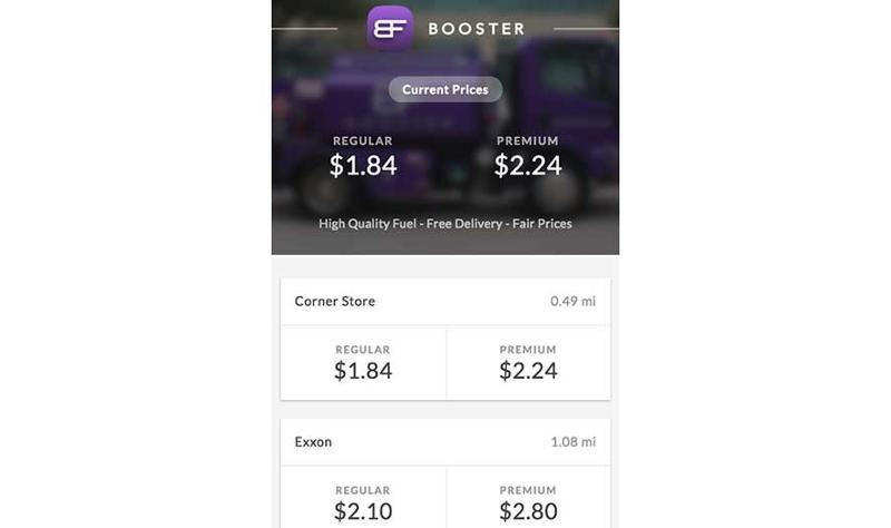 Booster Fuels app