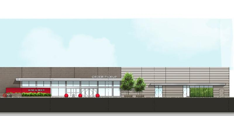 target proposed entrance