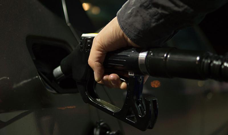 filling up car