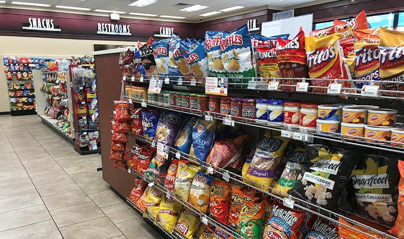 Snacks aisle