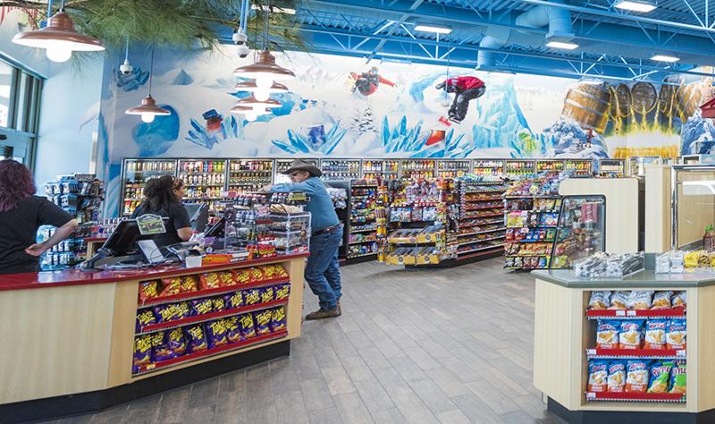 Maverik convenience store checkout