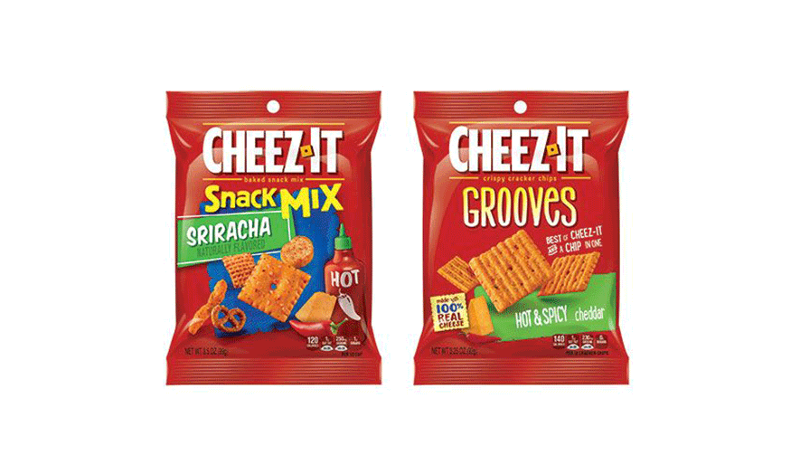Cheez-It Sriracha Snack Mix and Cheez-It Grooves Hot & Spicy