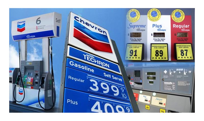 Chevron gasoline