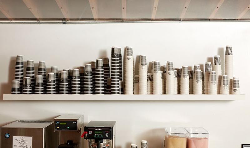 the goods mart coffee cup counter