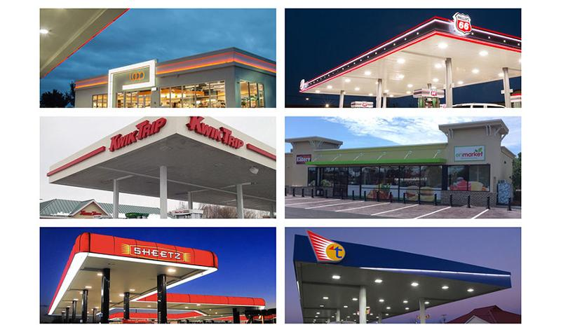 Collage of Gas Stations