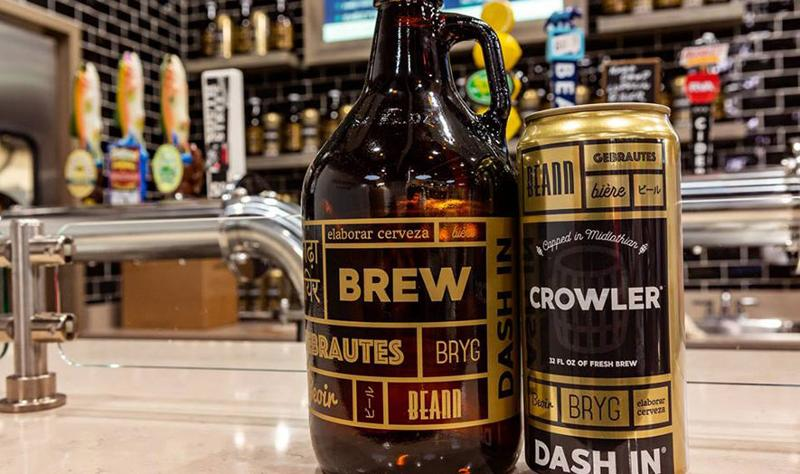 dash in growler crowler