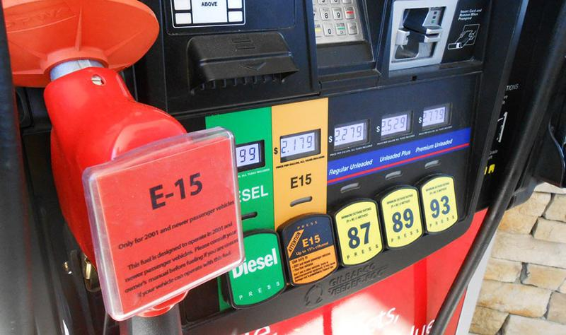 E15 gas pump