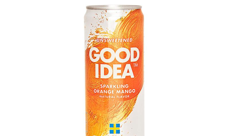 good idea sparkling water orange mango