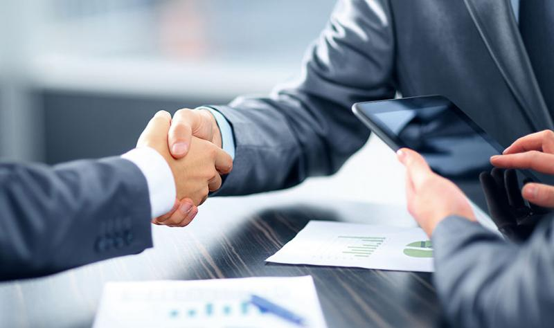 Handshake on a business deal