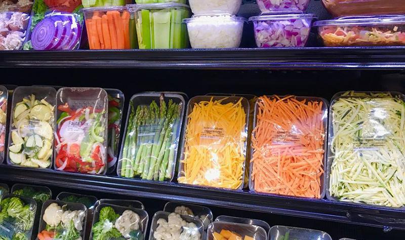 shelves produce