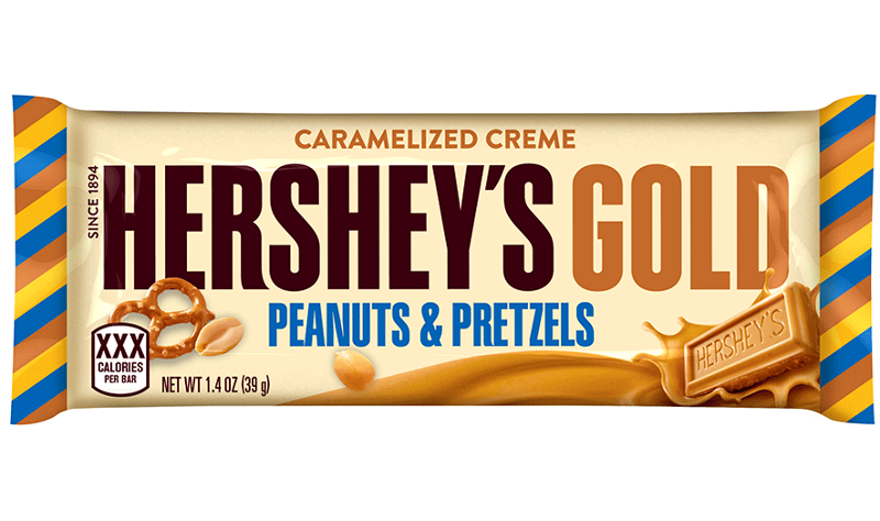 Hershey's Gold Caramelized Creme Peanuts & Pretzels