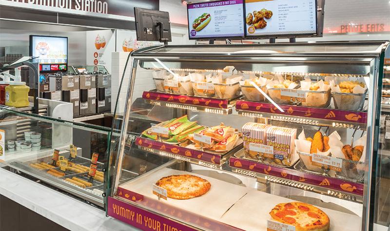 Loop neighborhood convenience store hot food