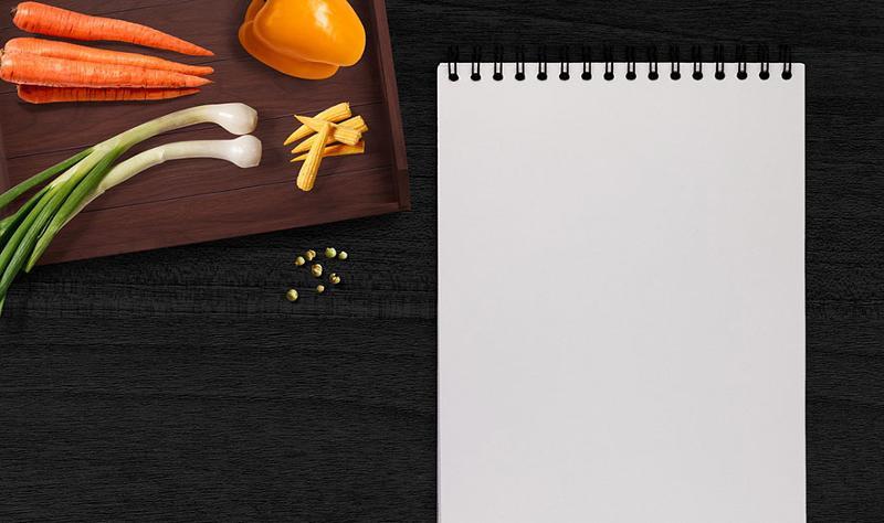 ingredients notepad