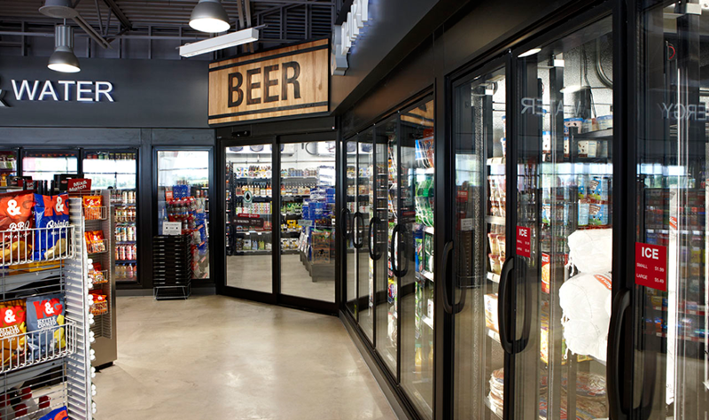 Kum & Go convenience store beer cave