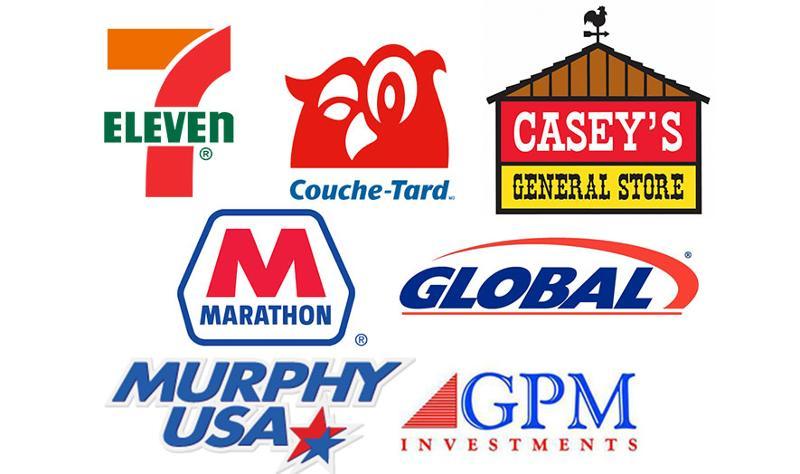 7-eleven, couche tard, caseys, marathon, global, murphy usa, gpm