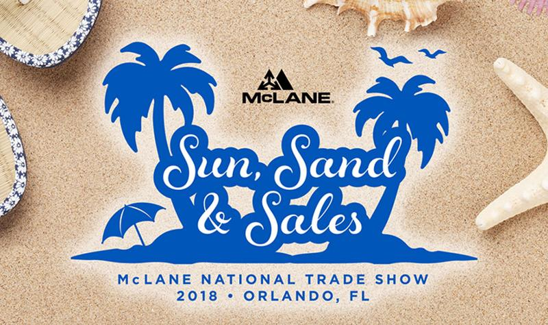 mcclane co sun sand and sales trade show