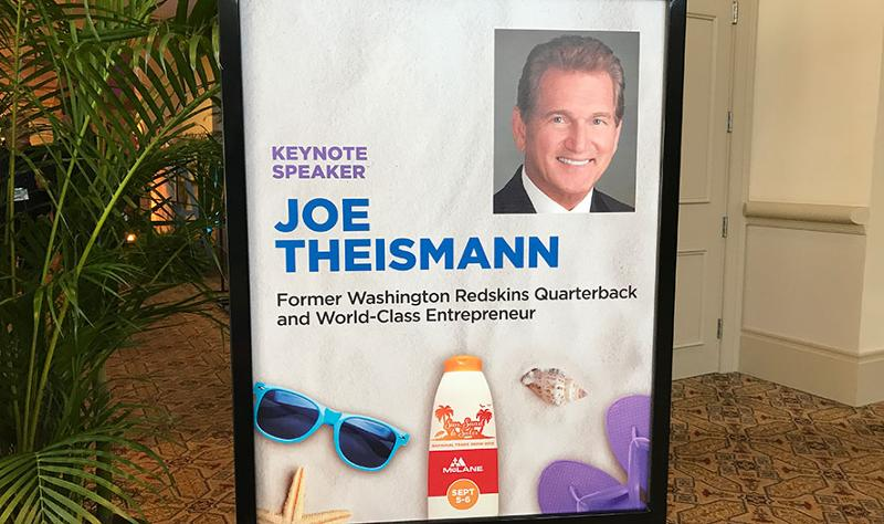 mclane trade show joe theismann