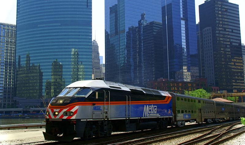 Houston Metra train