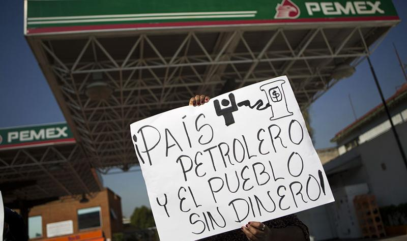 Mexican gas price protests