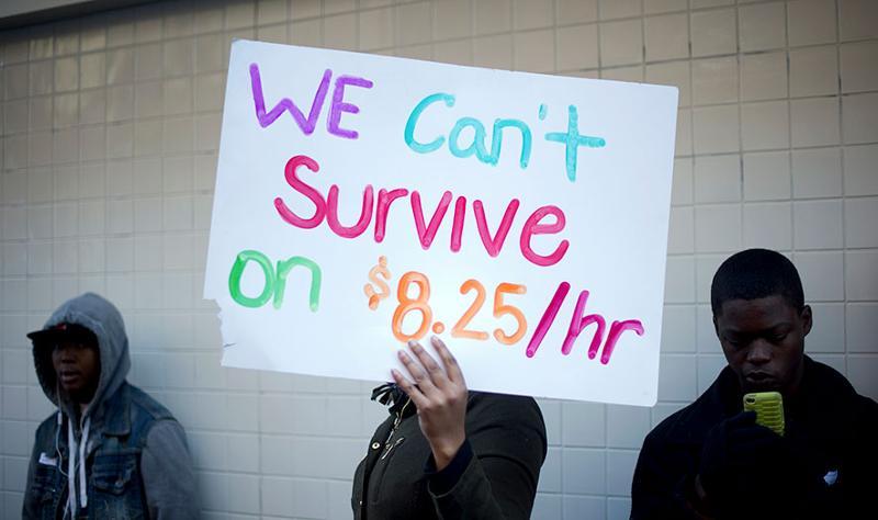Minimum wage protesters