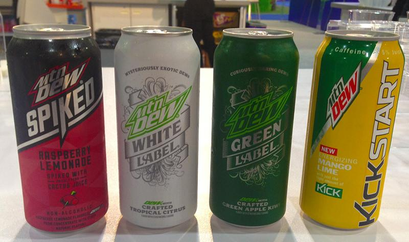 Mtn Dew White and Green labels
