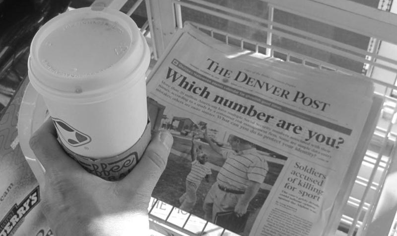 Newspapers with coffee