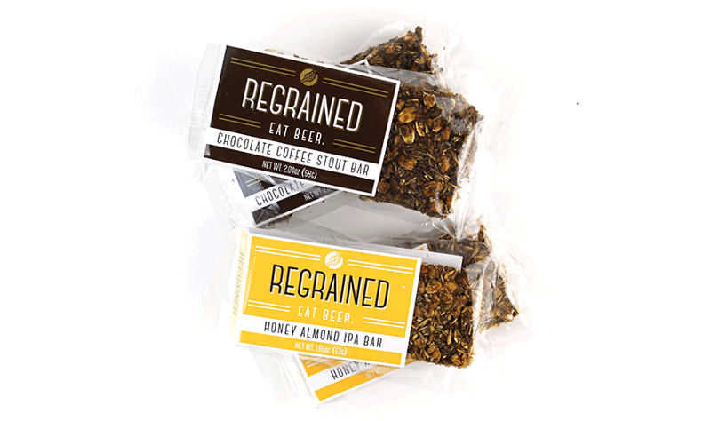 Regrained snack bars