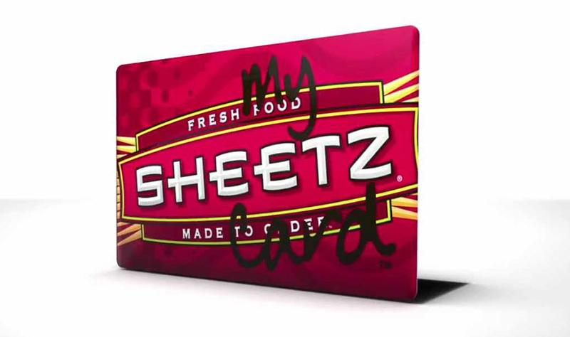 Sheetz rewardz card