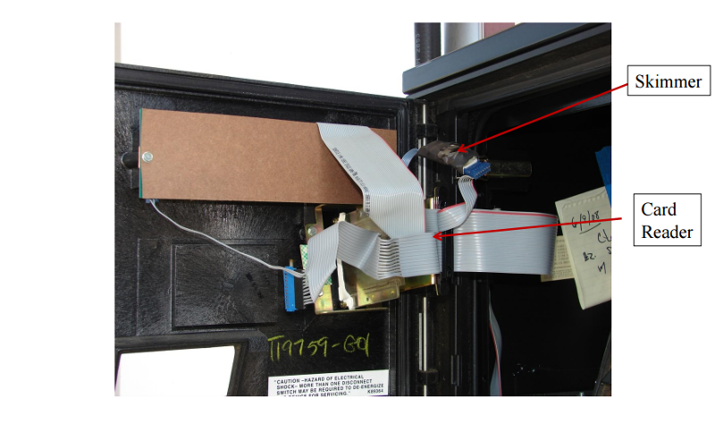 Ribbon gas pump skimmer