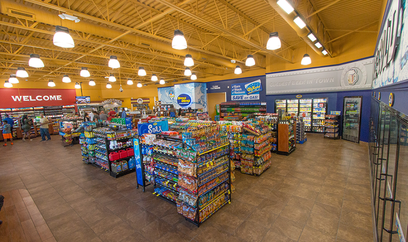 Spinx convenience store interior