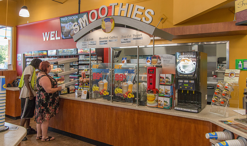 Spinx convenience store smoothie station