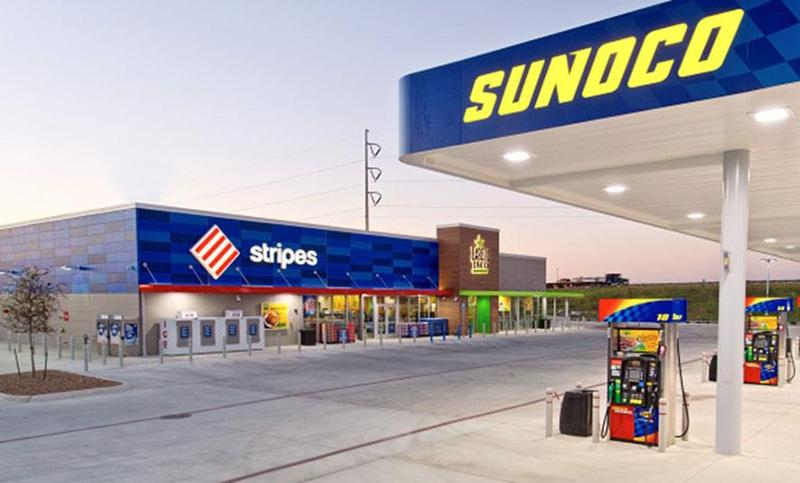 Stripes fuel canopy