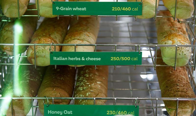 Subway breads