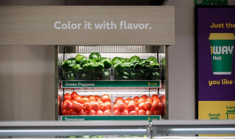 Subway vegetables