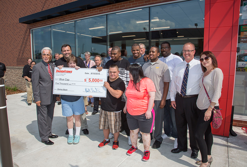 Thorntons convenience store donation